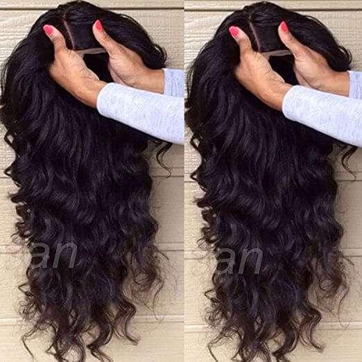 Capelli veri di una ragazza brasiliana! Parrucca umana, l'effetto è totalmente diverso dalla plastica (capelli veri) circa 74€ spediz. gratuita Amazon