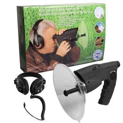 Amplificatore da stadio o per suoni della natura, eccellente per il birdwatching ha 1000 applicazioni. Puoi ascoltare conversazioni a grande distanza. circa 80€