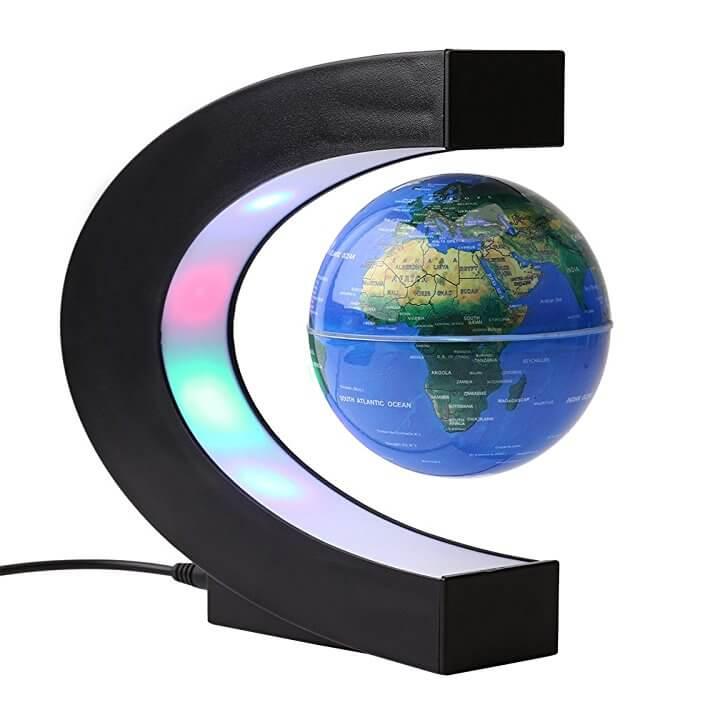 Il mappamondo che levita! Sfruttando il magnetismo la sfera resta sospesa! Sorprendente! circa 32€
