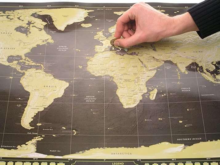 Gratta via i paesi che hai visitato e personalizza la TUA cartina geografica! Su Amazon a circa 32€