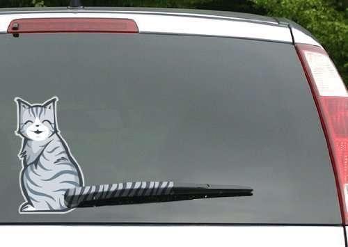 Adesivo da lunotto con gatto! Personalizza la tua auto! Le macchine sono tutte uguali, è difficile pure trovarle nei parcheggi! Differenziati!