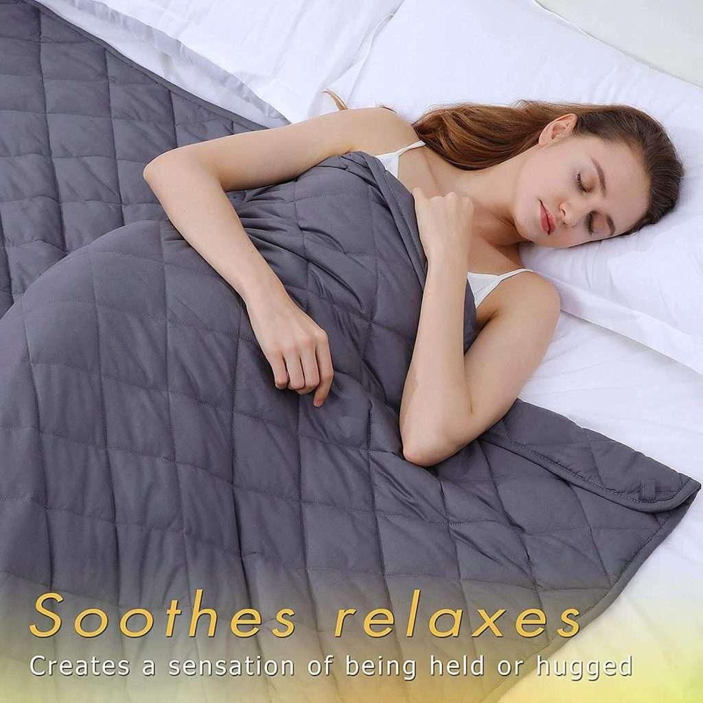 Coperta Ponderata, Sollievo da Stress e Ansia, Effetto Calmante per Dormire Bene