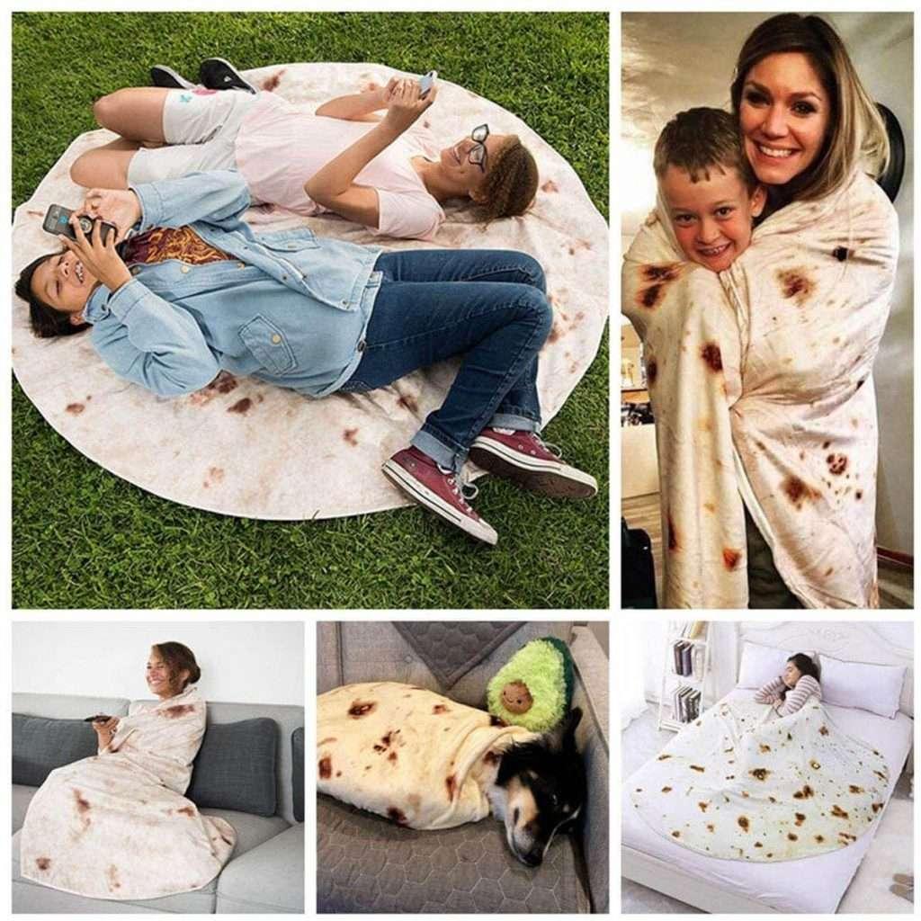 Coperta di Burrito Rotonda per vestirsi come Una piadina Umana Gigante