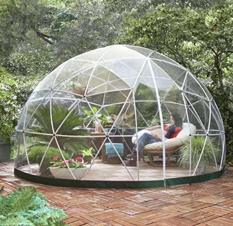 Igloo da giardino Elegante serra gazebo con copertura in PVC