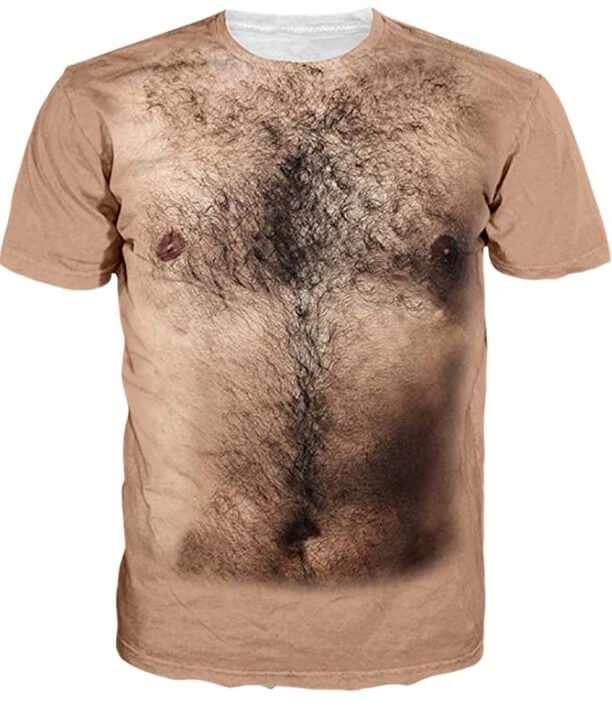 Magliette-Uomo-peloso-